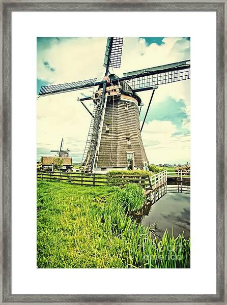 Old Dutch  Windmill Framed Print