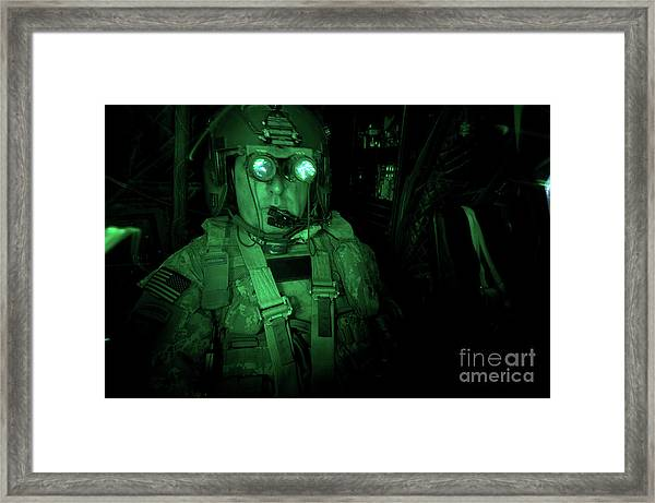 Pilot Equipped With Night Vision Framed Print