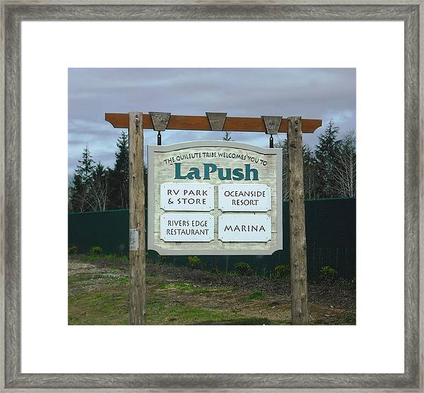 Quileute Reservation La Push Framed Print