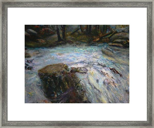 Raging River Framed Print by Sylva Zalmanson
