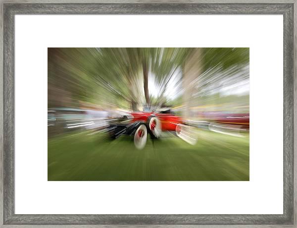 Red Antique Car Framed Print