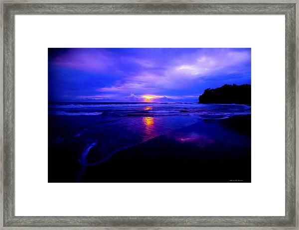 Red Light Framed Print by Glenn Vidal