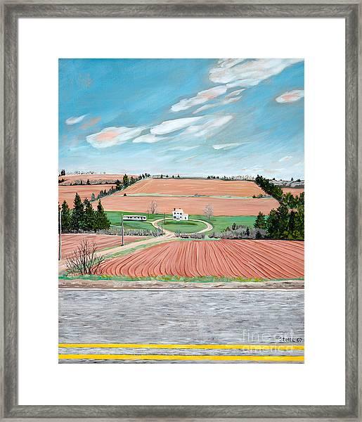Red Soil On Prince Edward Island Framed Print