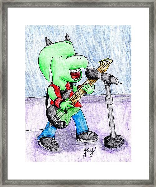 Jett The Alien Bassist Framed Print