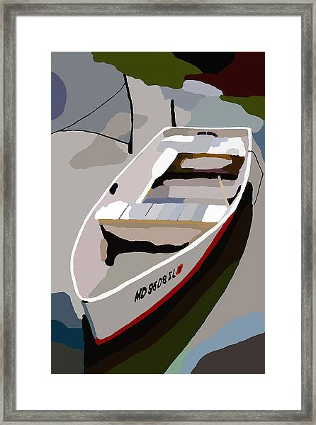 Row Boat San Damingo Creek Framed Print