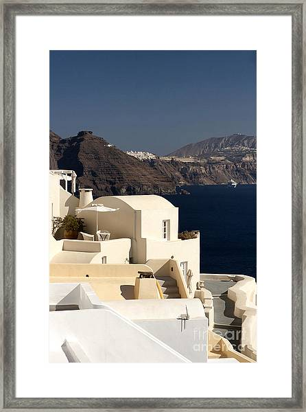 Santorini View Framed Print