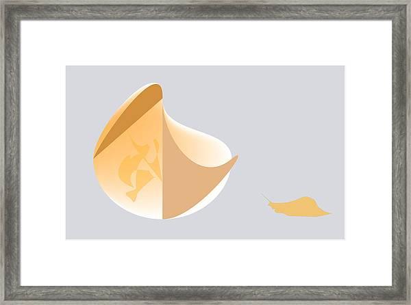 Snail Oracle Framed Print