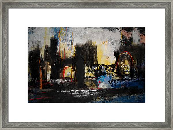 Street In Marrakech Framed Print by Mohamed KHASSIF