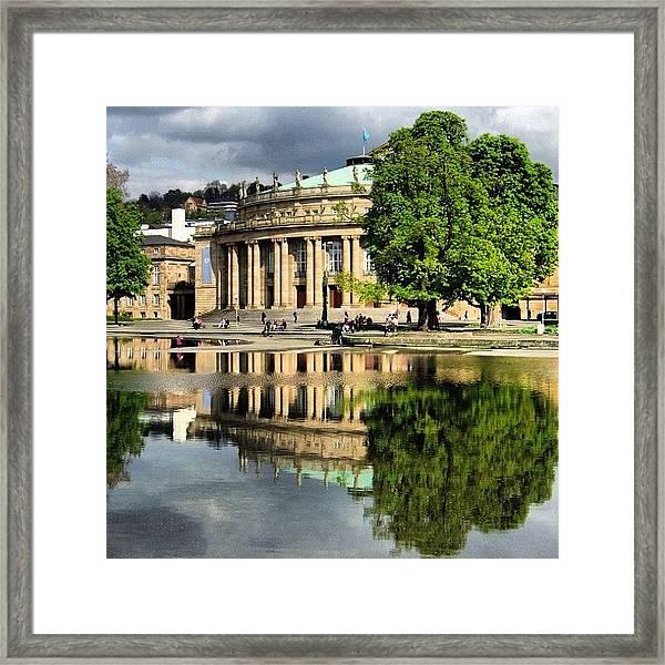 Stuttgart Staatstheater Staatsoper Opera Theatre Germany Framed Print