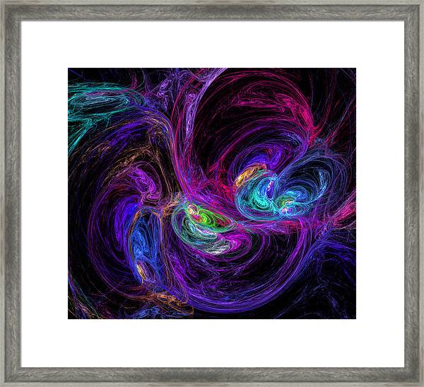 Technicolor Galaxies Framed Print