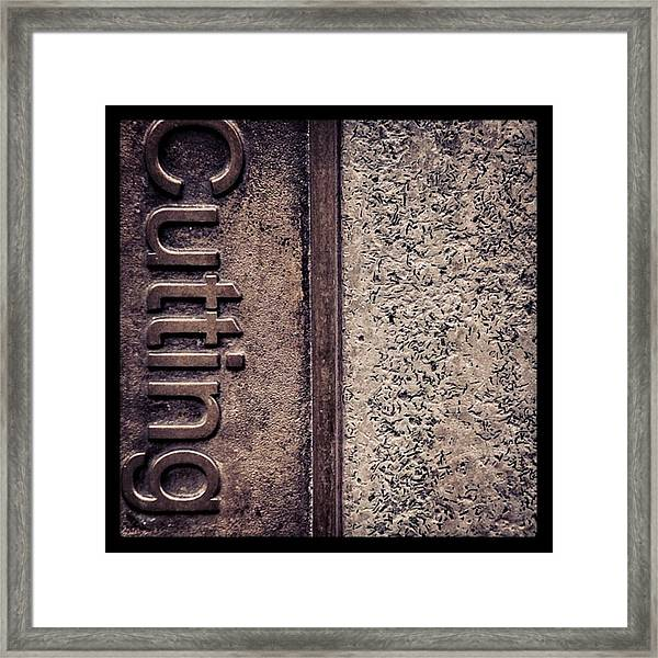 #texture #abstract #manchester Framed Print