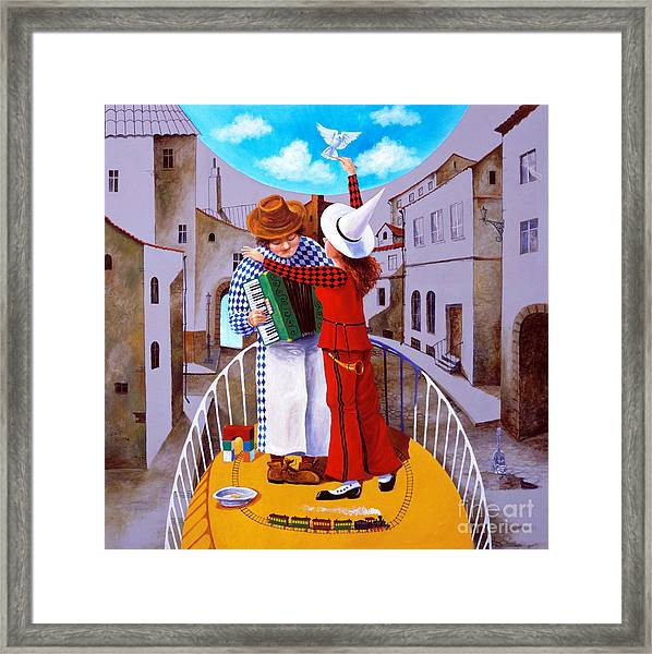 The Blue Sky Orchestra Framed Print