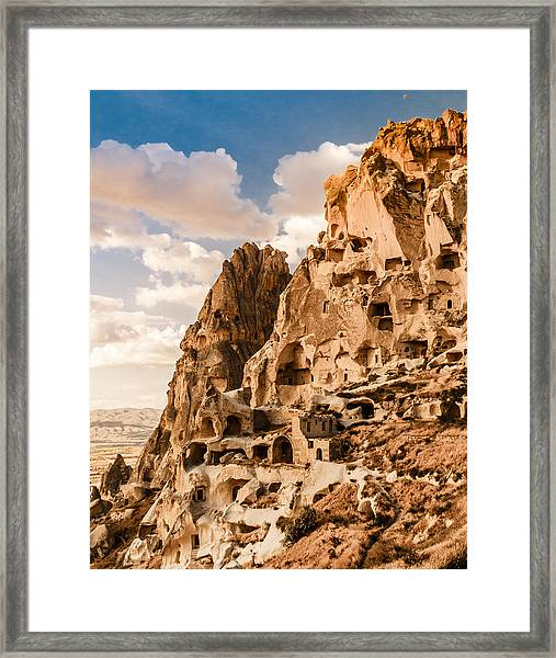 Framed Print featuring the photograph Uchisar - The Castle by Mark Forte
