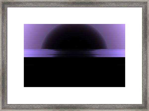 Framed Print featuring the digital art The Horizon by Mihaela Stancu