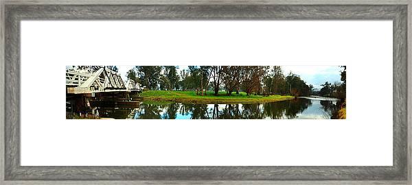 Tumut Junction Bridge Framed Print