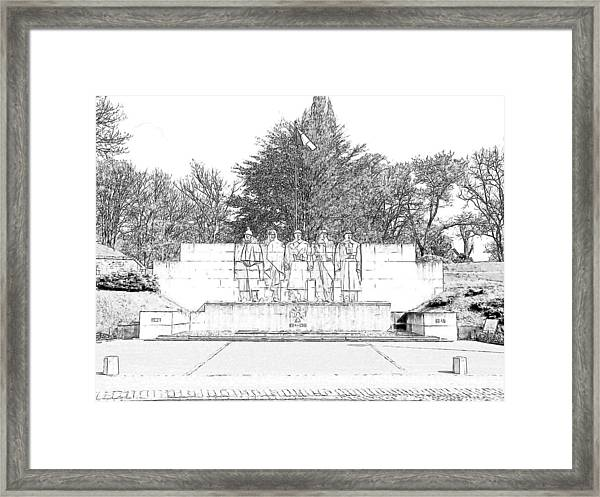 Verdun World War I Memorial Framed Print