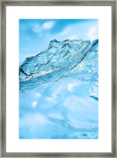 Water Splash Framed Print by HD Connelly