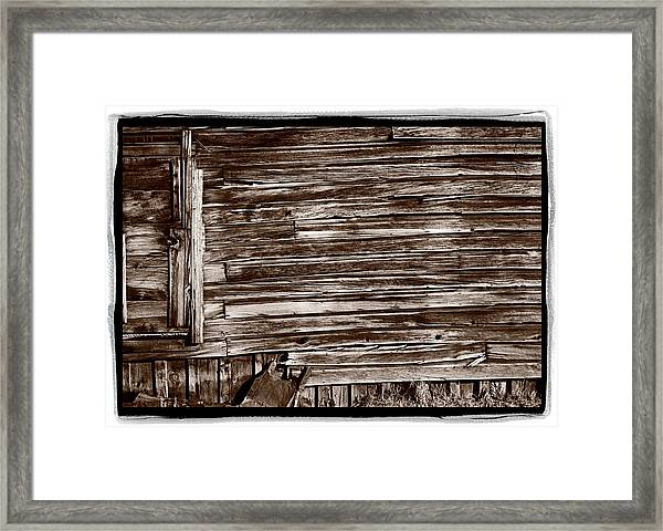 Weathered Wall In Bodie Ghost Town Framed Print