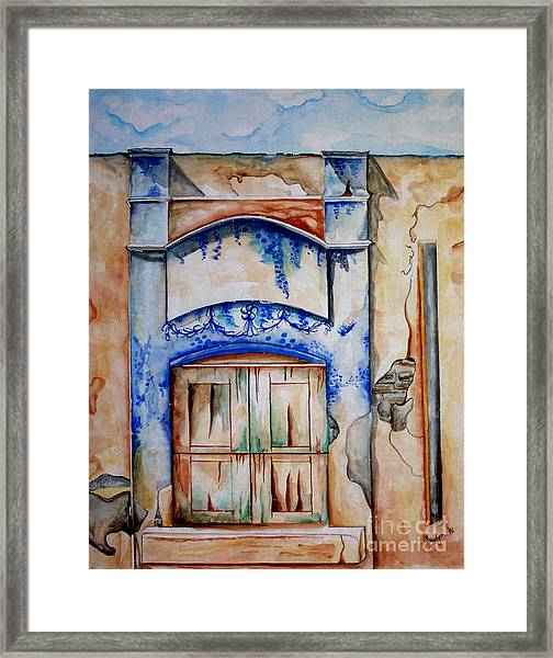 Window From Santiago Framed Print