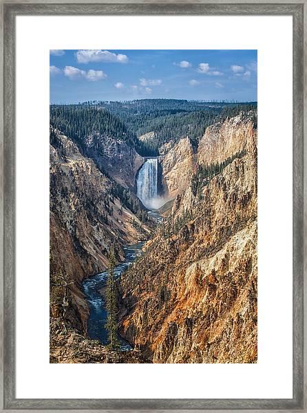Yellowstone Lower Falls Framed Print