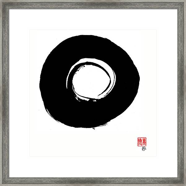 Zen Circle Six Framed Print