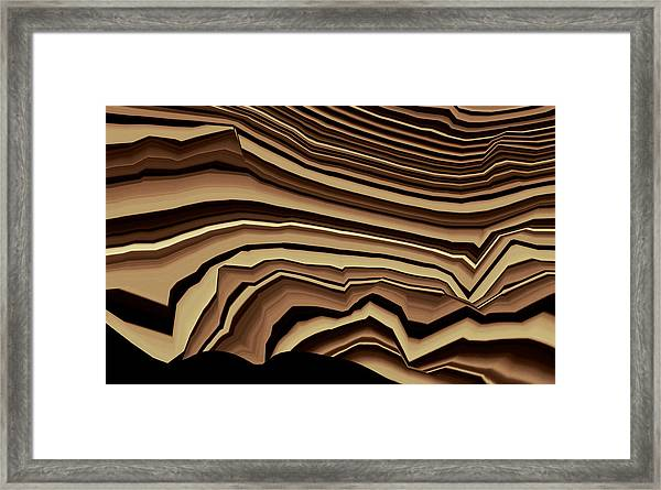 Framed Print featuring the digital art Chaos by Mihaela Stancu