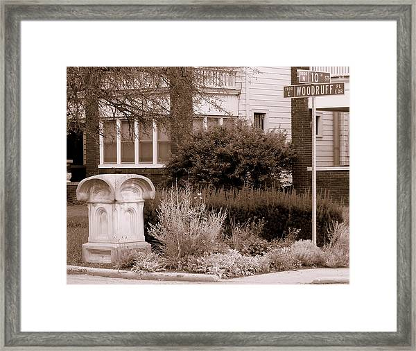 10th And Woodruff Framed Print