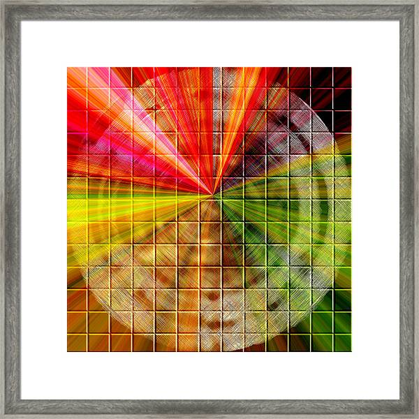 Framed Print featuring the digital art Refraction by Mihaela Stancu