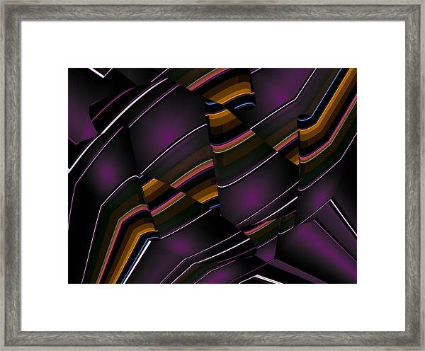Framed Print featuring the digital art Light Cones by Mihaela Stancu