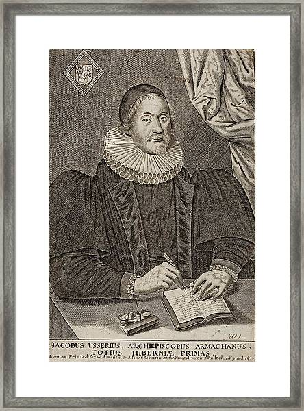 1650 Bishop Usher Portrait 4004bc Framed Print by Paul D Stewart