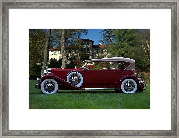 1932 Packard 903 Deluxe Eight Sport Phaeton Framed Print