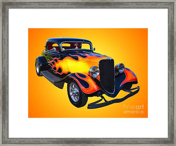 1934 Ford 3 Window Coupe Hotrod Framed Print