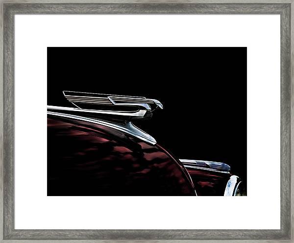 1940 Chevy Hood Ornament Framed Print