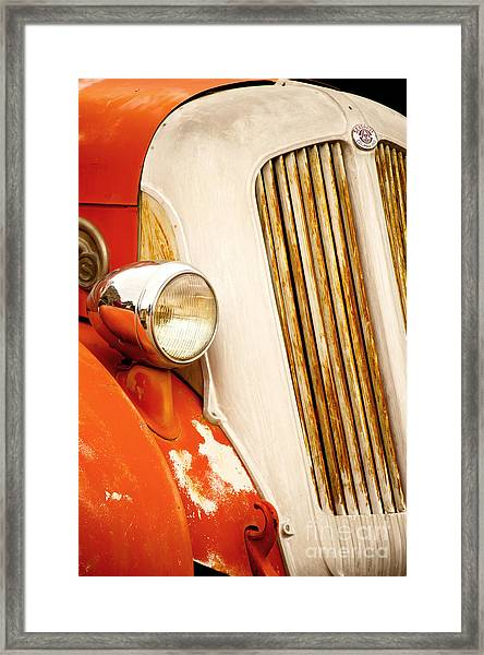 1940's Seagrave Fire Engine Framed Print