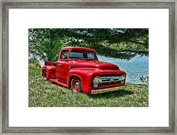 1956 Ford F100 Pickup Truck Framed Print