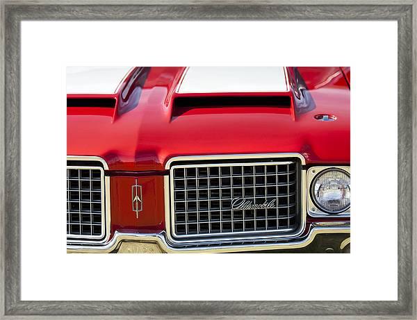 1972 Oldsmobile Grille Framed Print