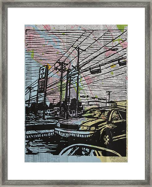 Burnet Road Framed Print
