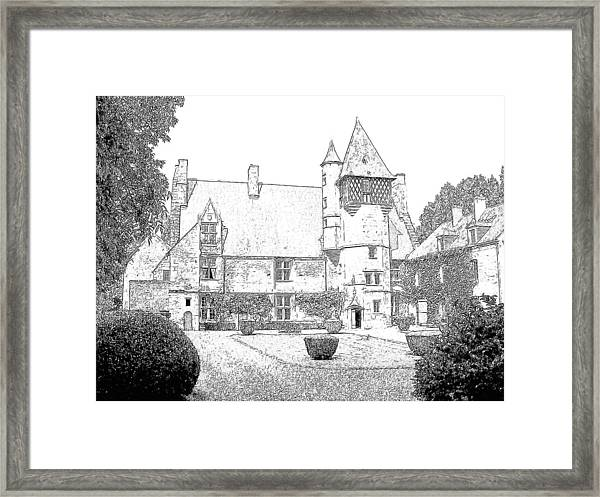 Chateau Villamenant France Framed Print