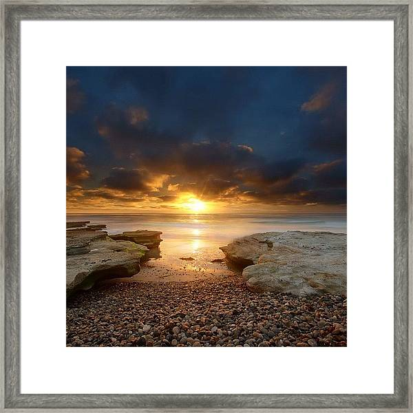 Long Exposure Sunset In North San Diego Framed Print