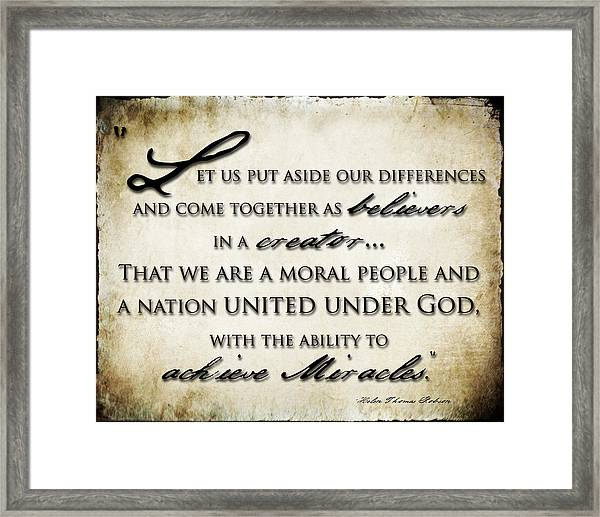 Our Battle Cry Framed Print