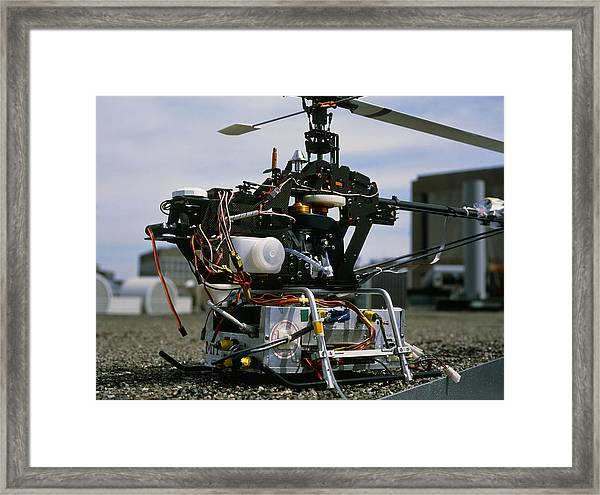Robotic Helicopter Framed Print by Volker Steger