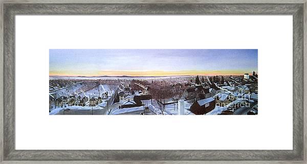 Sentinels At Dawn Framed Print