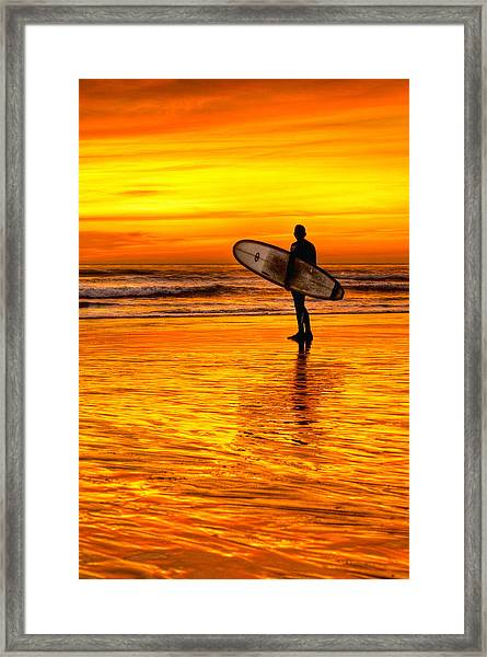 Surfing Sensations Framed Print by Donna Pagakis
