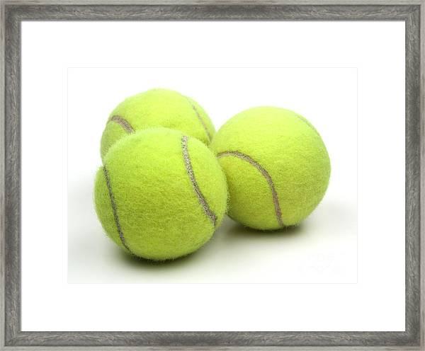 Tennis Balls Framed Print