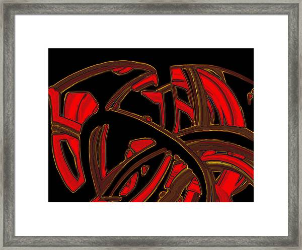 Framed Print featuring the digital art The Knot by Mihaela Stancu