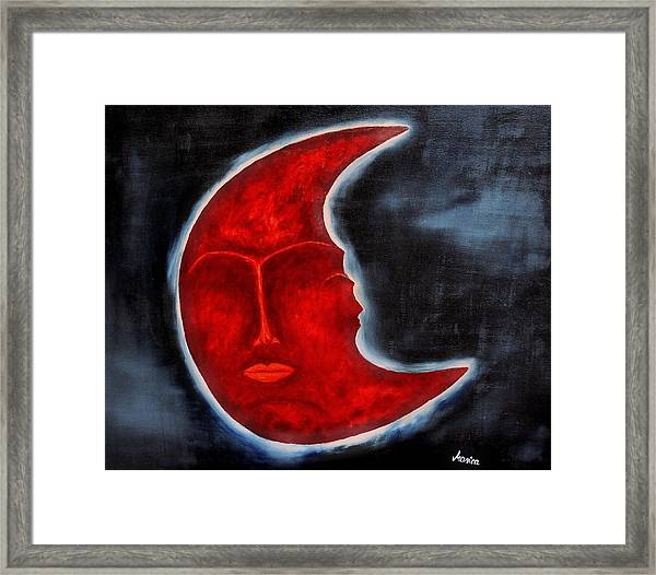 The Mysterious Moon Framed Print