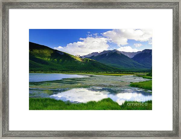 Vermillion Lakes Framed Print by Ginevre Smith