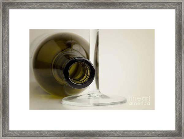 Wine Bottle Framed Print by Blink Images