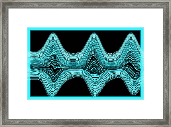 Framed Print featuring the digital art The Wave by Mihaela Stancu