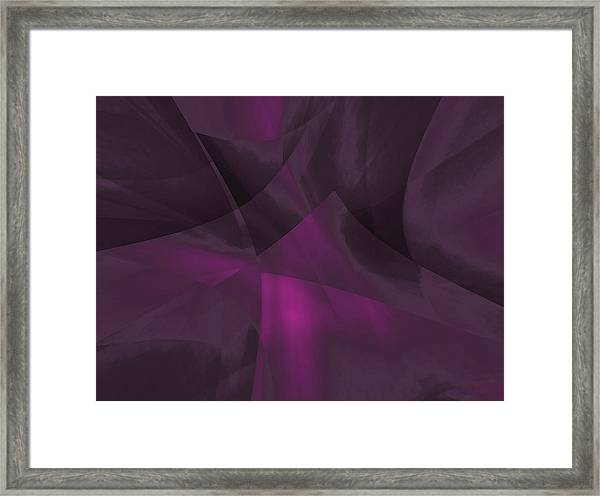 Framed Print featuring the digital art Transparent Layers by Mihaela Stancu